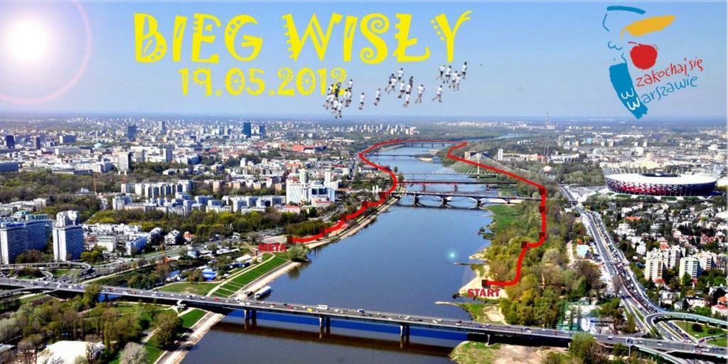 Logo Bieg Wisły Warszawa