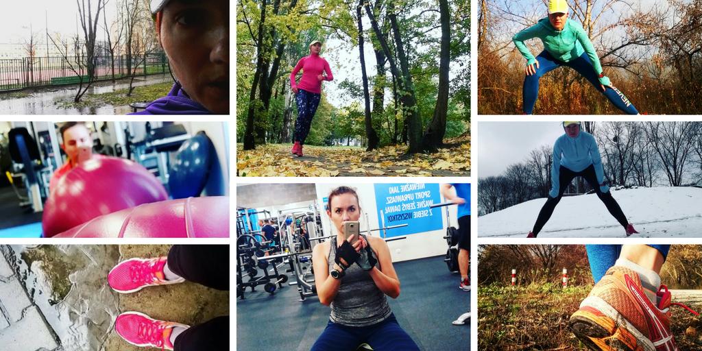 Moje zdjęcia z treningów na siłowni, biegania