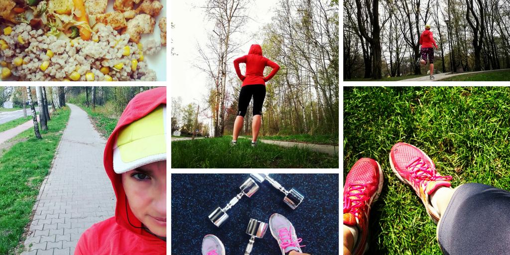 Zdjęcia z moich treningów biegowych, siłowni i diety