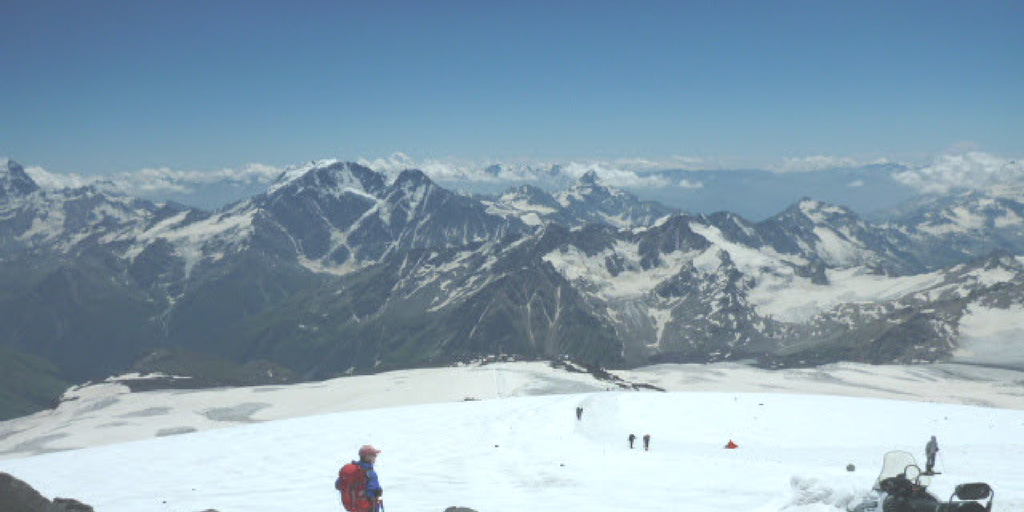Elbrus - widok skały Pastuchowa