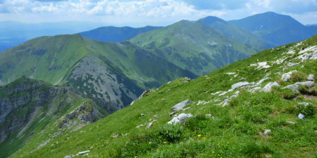 Tatry Widok ze szczytu Krzesanicy