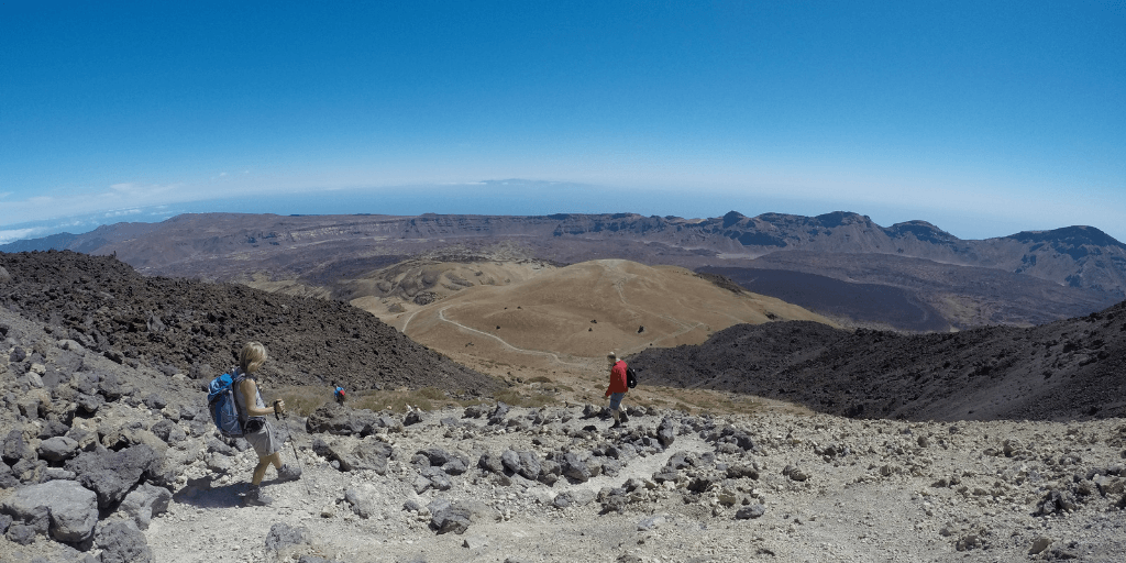 Pico de Teide podejście do schroniska