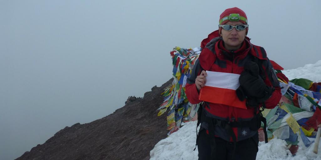 Ja na szczycie Stok Kangri